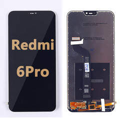Back and front LCD and Digitizer Assembly  for Redmi 6 Pro  Black