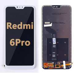 Back and front LCD and Digitizer Assembly  for Redmi 6 Pro White