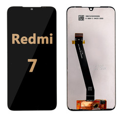 Back and front LCD and Digitizer Assembly  with Frame for Redmi 7 Black