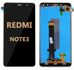 Back and front LCD and Digitizer Assembly  for Redmi Note 3 Black