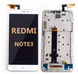 Back and front LCD and Digitizer Assembly  with Frame for Redmi Note 3 white