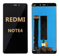 Back and front LCD and Digitizer Assembly  with Frame for Redmi Note 4 Black
