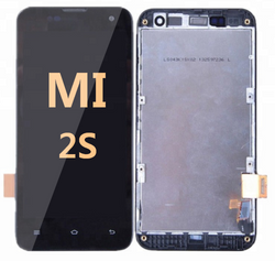 LCD and Digitizer Assembly with Frame for Mi 2S Black
