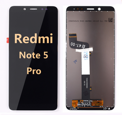 back and front LCD and Digitizer Assembly for redmi note 5 Pro Black