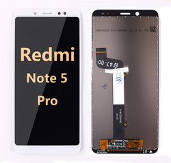 back and front LCD and Digitizer Assembly for redmi note 5 Pro white