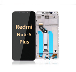 back and front LCD and Digitizer Assembly with Frame for Redmi note 5 Plus black