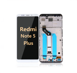back and front LCD and Digitizer Assembly with Frame for Redmi note 5 Plus white