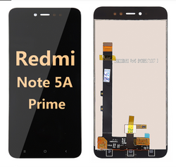 back and front LCD and Digitizer Assembly for redmi note 5A prime black