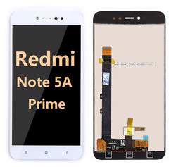 back and front LCD and Digitizer Assembly for redmi note 5A prime white