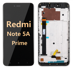 Back and front LCD and Digitizer Assembly with frame for redmi note 5A Prime Black