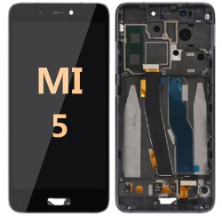 LCD and Digitizer Assembly with frame for Mi 5 Black