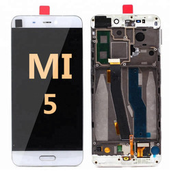 LCD and Digitizer Assembly with frame for Mi 5 White