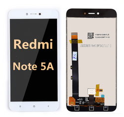 Back and front LCD and Digitizer Assembly for redmi note 5A  white