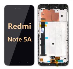 back and front LCD and Digitizer Assembly with Frame for  Redmi note 5A Black