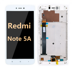 back and front LCD and Digitizer Assembly with Frame for  Redmi note 5A white