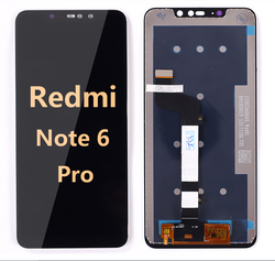 back and front LCD and Digitizer Assembly for redmi note 6 pro black