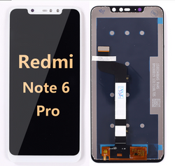 back and front LCD and Digitizer Assembly for redmi note 6 pro white