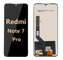 Back and front LCD and Digitizer Assembly for redmi note 7 pro black