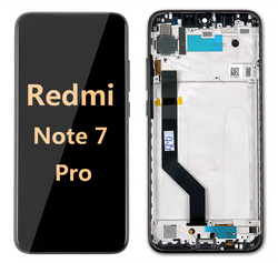 back and front LCD and Digitizer Assembly with Frame for Redmi note 7 Pro black