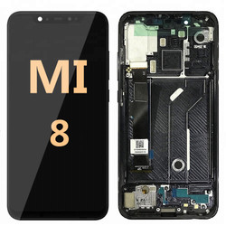 LCD and Digitizer Assembly with frame for Mi 8 Black
