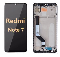 back and front LCD and Digitizer Assembly with frame for redmi note 7 black