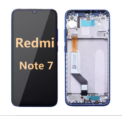 back and front LCD and Digitizer Assembly with frame for redmi note 7  blue