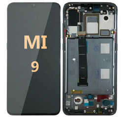 LCD and Digitizer Assembly with frame for Mi 9 Black