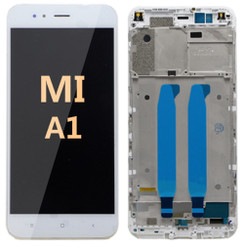 LCD and Digitizer Assembly with frame For Mi A1 White
