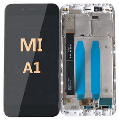 LCD and Digitizer Assembly with frame For Mi A1  Black