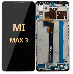 LCD and Digitizer Assembly with frame For Mi Max 3 Black