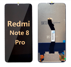 back and front LCD and Digitizer Assembly for redmi note 8 pro black