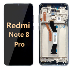 back and front LCD and Digitizer Assembly with Frame for Redmi Note 8 Pro Black