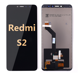 back and front LCD and Digitizer Assembly for Redmi S2 Black
