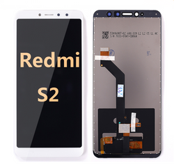 back and front LCD and Digitizer Assembly for redmi S2 White