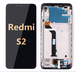 Back and front LCD and Digitizer Assembly with Frame for Redmi S2 Black