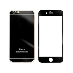 For iPhone 5G/SE/5S/5C Mirror Tempered Glass (BLACK)