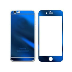 For iPhone 5G/SE/5S/5C Mirror Tempered Glass (BLUE)