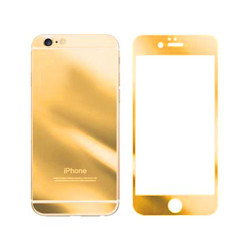 For iPhone 5G/SE/5S/5C Mirror Tempered Glass (GOLD)