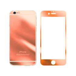 For iPhone 5G/SE/5S/5C Mirror Tempered Glass (ROSE GOLD)