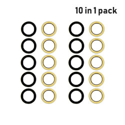 For iPhone 6S/6 Back Camera Lens w/Adhesive (Glass Only) (10 Pcs)