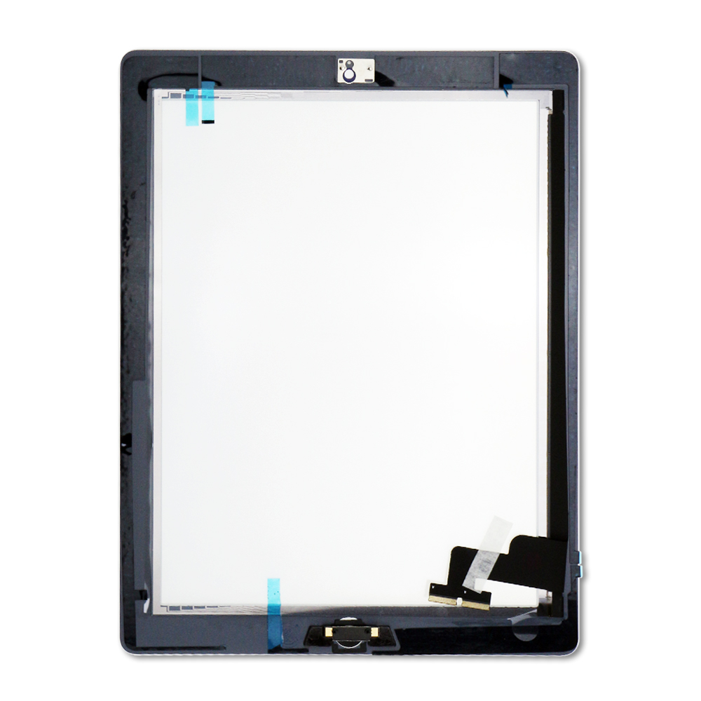 Premium Quality Full Assembly Glass and Digitizer with Home Button and Adhesive, White, for iPad 2