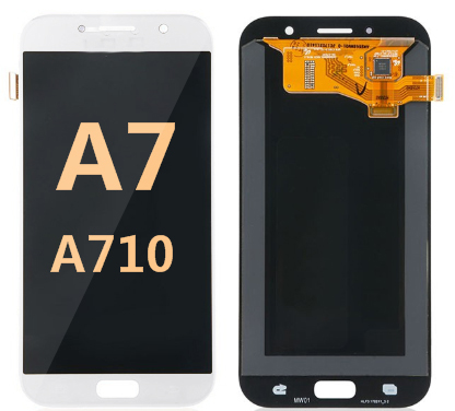 Back and front for Samsung Galaxy A701/A7 2016 LCD White