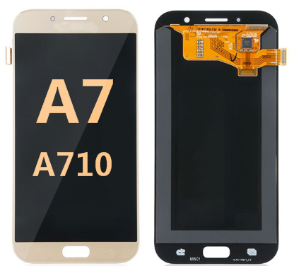 Back and front for Samsung Galaxy A701/A7 2016 LCD Gold