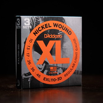 D'Addario EXL110-3D 10-46 Nickel Wound Strings - 3 Pack