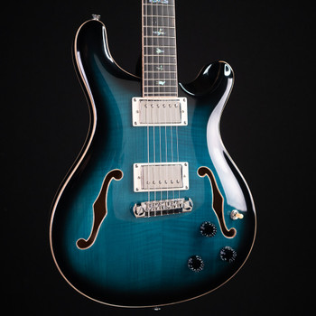 PRS SE Hollowbody II Piezo - Peacock Blue Smokeburst