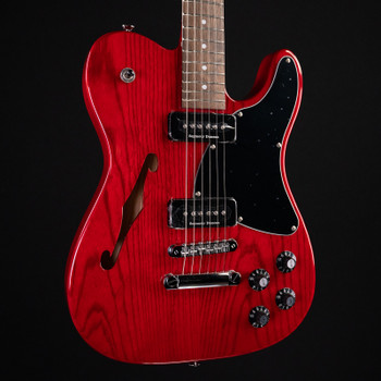 Fender Jim Adkins JA-90 Telecaster Thinline - Transparent Crimson Red
