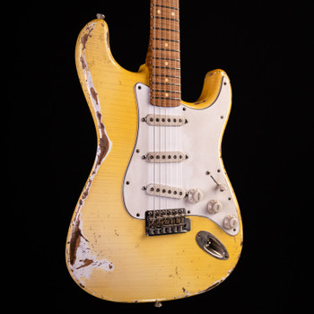 Iconic Guitars 57S - Roasted 5A Flamed Maple - Vintage White