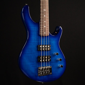 PRS SE Kingfisher Bass - Faded Blue Wraparound Burst