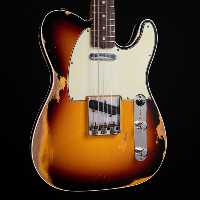 Fender Custom Shop 1960 Telecaster Custom Heavy Relic - 3-Tone Sunburst w/ Roasted Maple