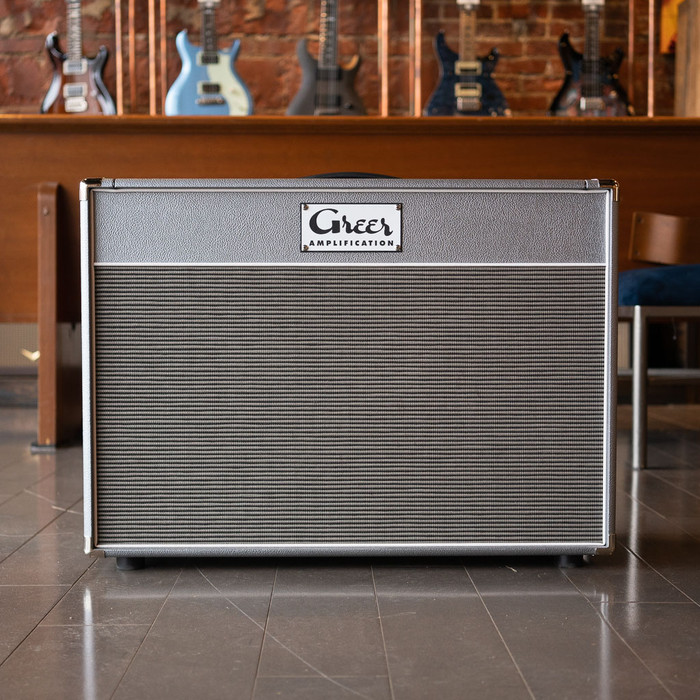 Greer Amps 2x12 Cabinet - Silver - Celestion G12H - Store Demo